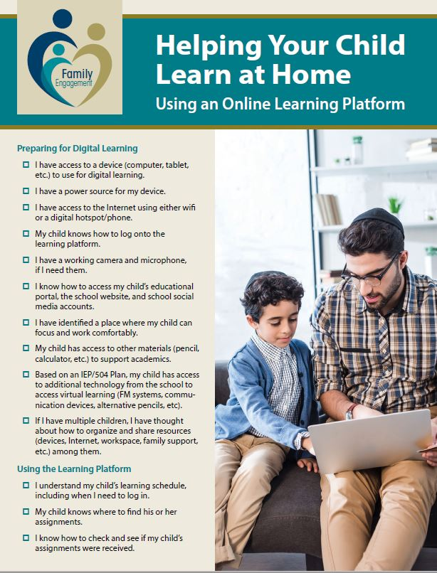 Helping Your Child Learn at Home Using an Online Learning Platform