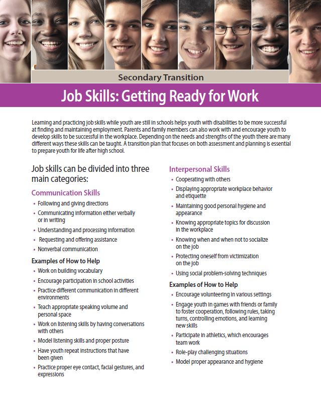 Secondary Transition: Job Skills