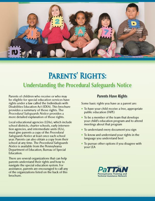 Parents' Rights: Understanding the Procedural Safeguards Notice