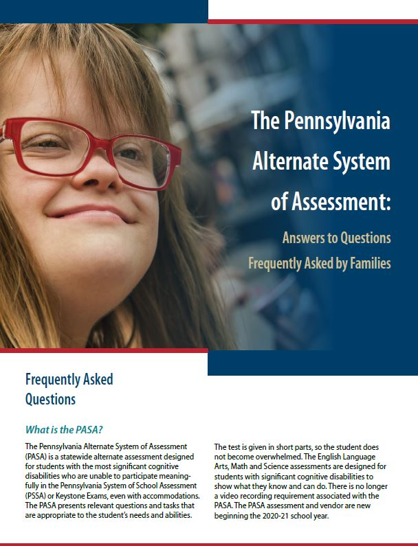 The Pennsylvania Alternate System of Assessment: Answers to Questions Frequently Asked by Families