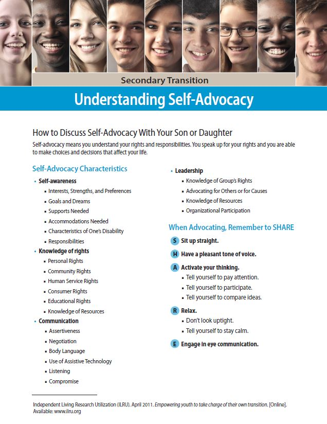 Secondary Transition: Understanding Self-Advocacy