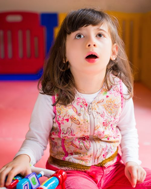 photo of young girl with disability