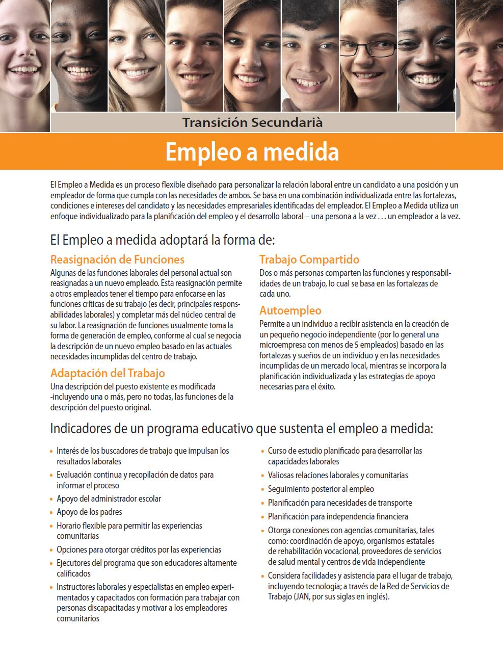 Secondary Transition: Customized Employment (Spanish)