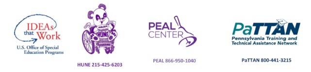 IDEAS the Work, HUNE, PEAL CENTER and PaTTAN logos