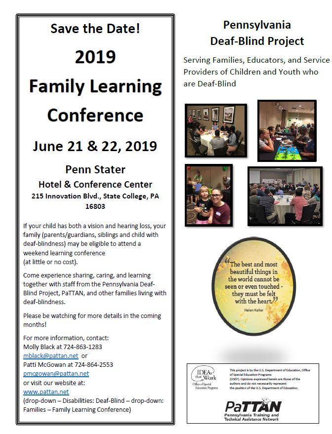 Image of 2019 Family Learning Conference Date Saver