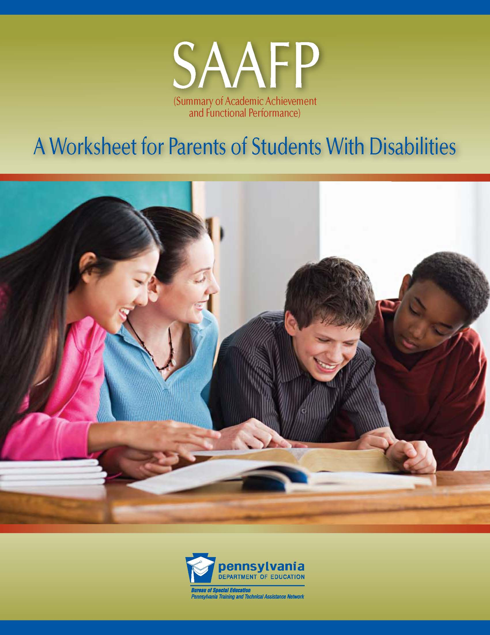 SAAFP: A Worksheet for Parents of Students with Disabilities