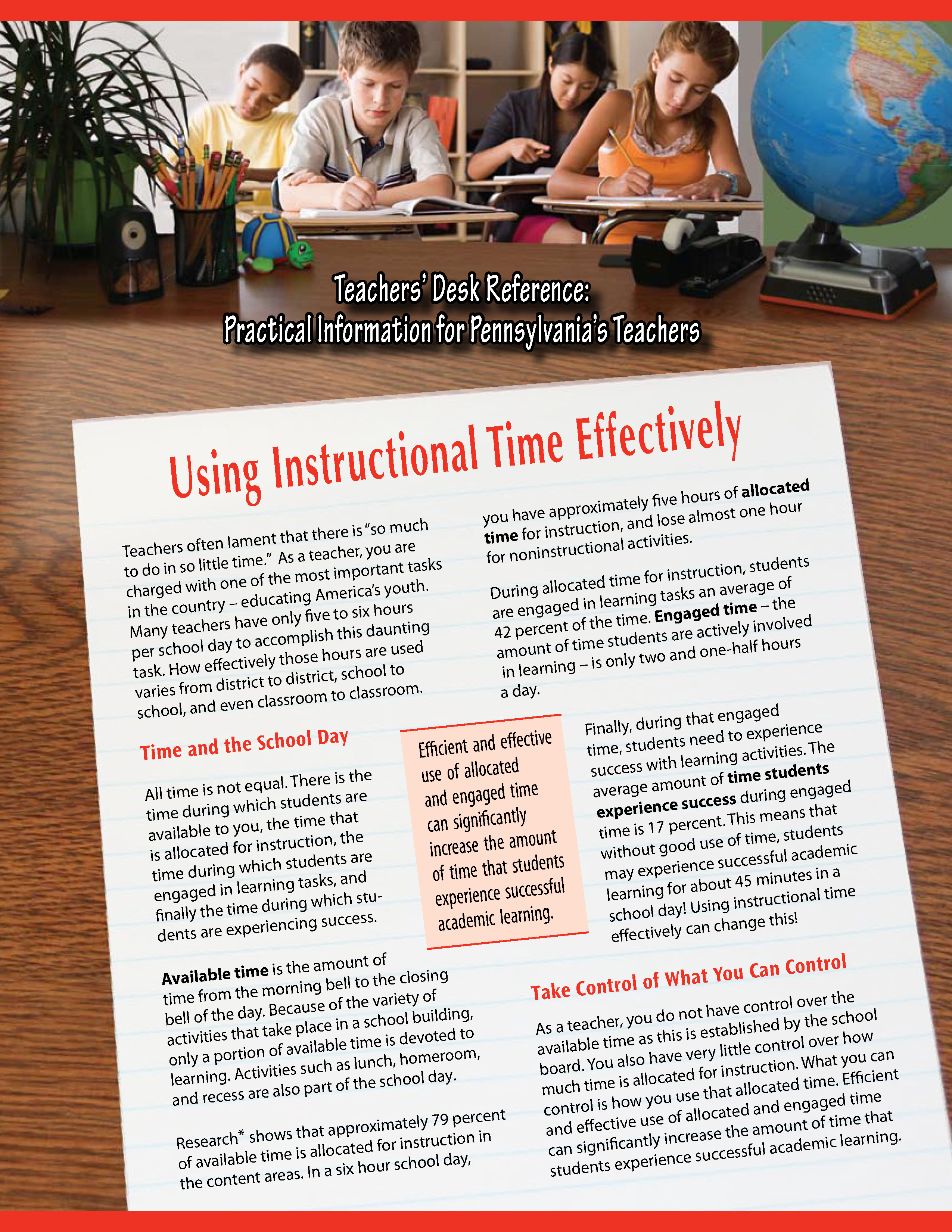 Teachers' Desk Reference: Using Instructional Time Effectively