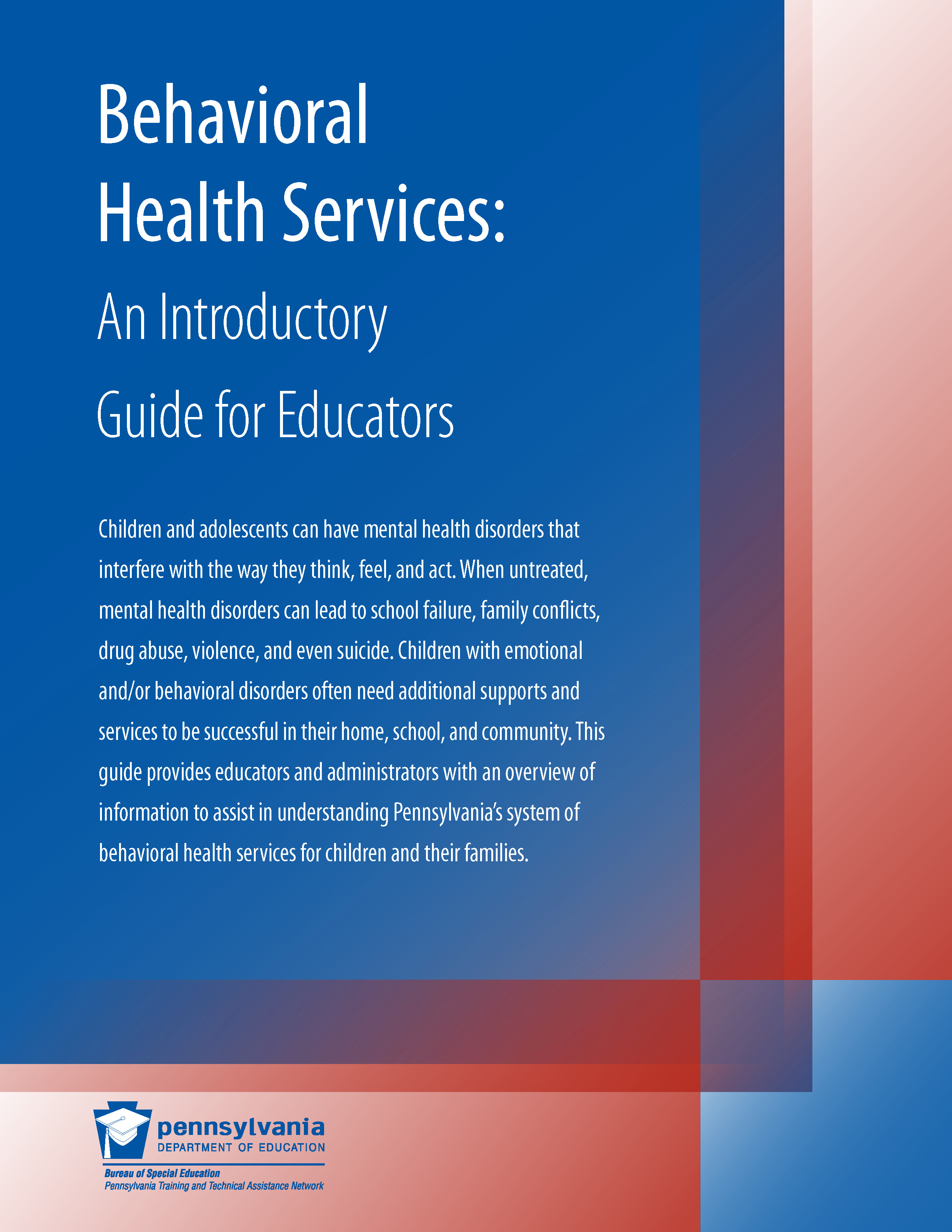 Behavioral Health Services: An Introductory Guide for Educators