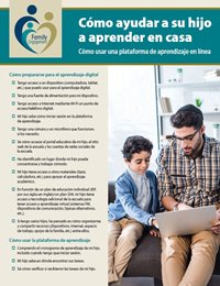 Helping Your Child Learn at Home Using an Online Learning Platform (Spanish)