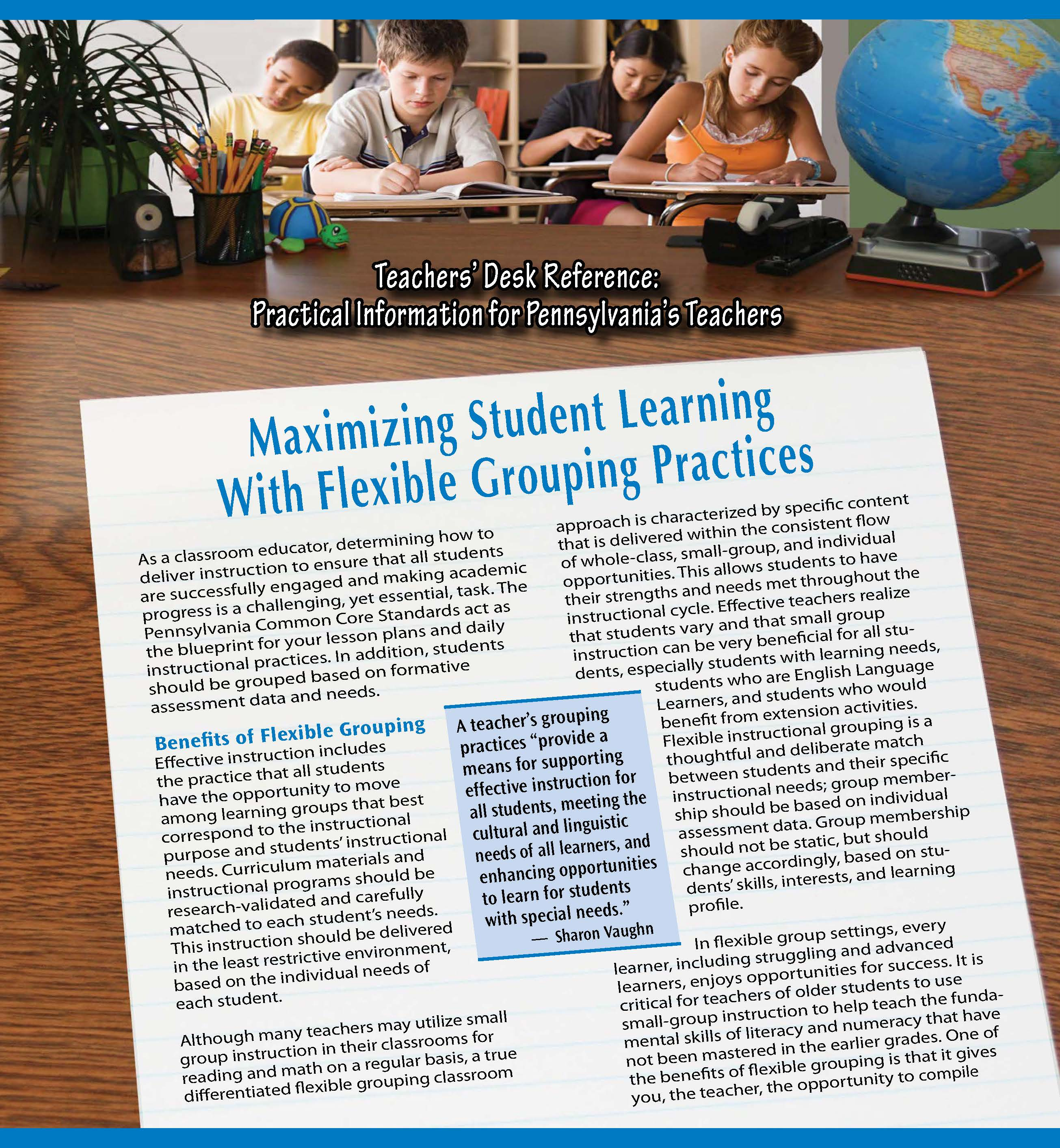 Teachers' Desk Reference: Maximizing Student Learning With Flexible Grouping Practices