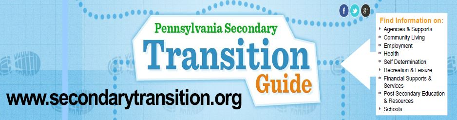 Pennsylvania Secondary Transition Guide Bookmark