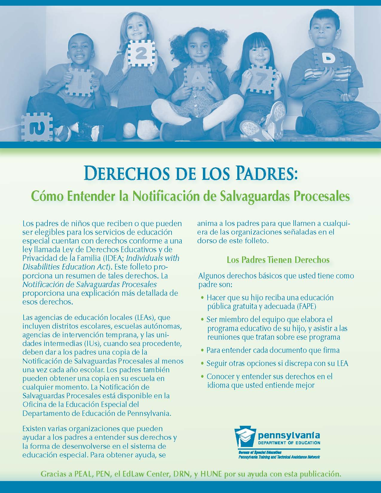 Parents' Rights: Understanding the Procedural Safeguards Notice (Spanish)