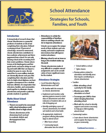 CAPS School Attendance: Strategies for Schools, Families, and Youth