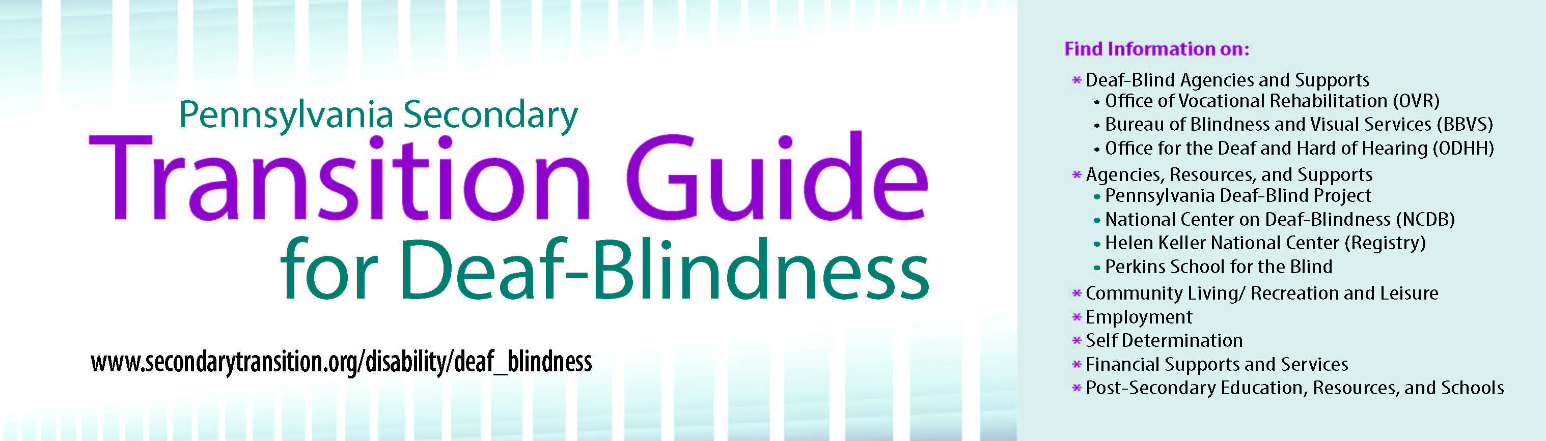 Secondary Transition Guide for Deaf-Blindness