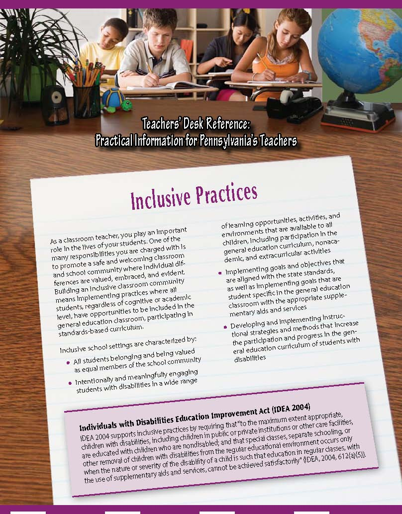 Teachers' Desk Reference: Inclusive Practices