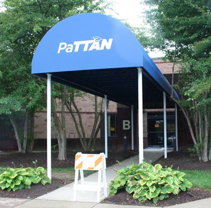 Photo of new awning PaTTAN Harrisburg