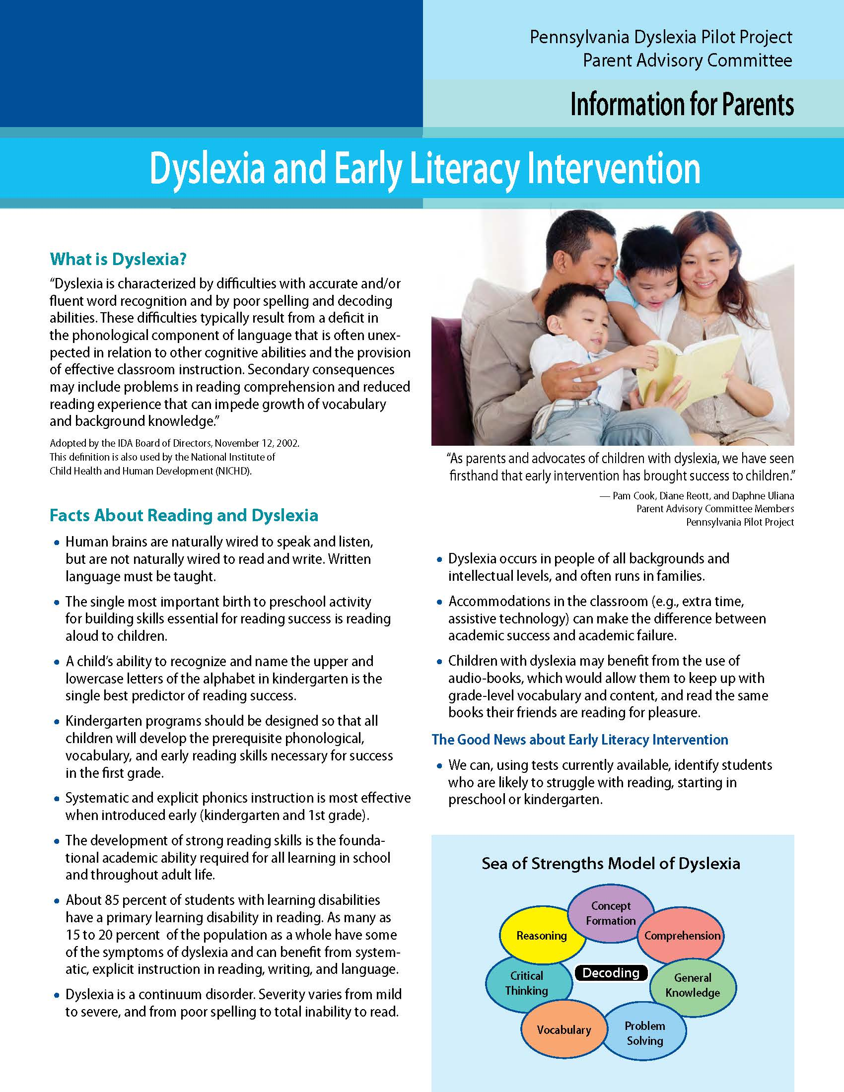 Dyslexia and Early Literacy Intervention
