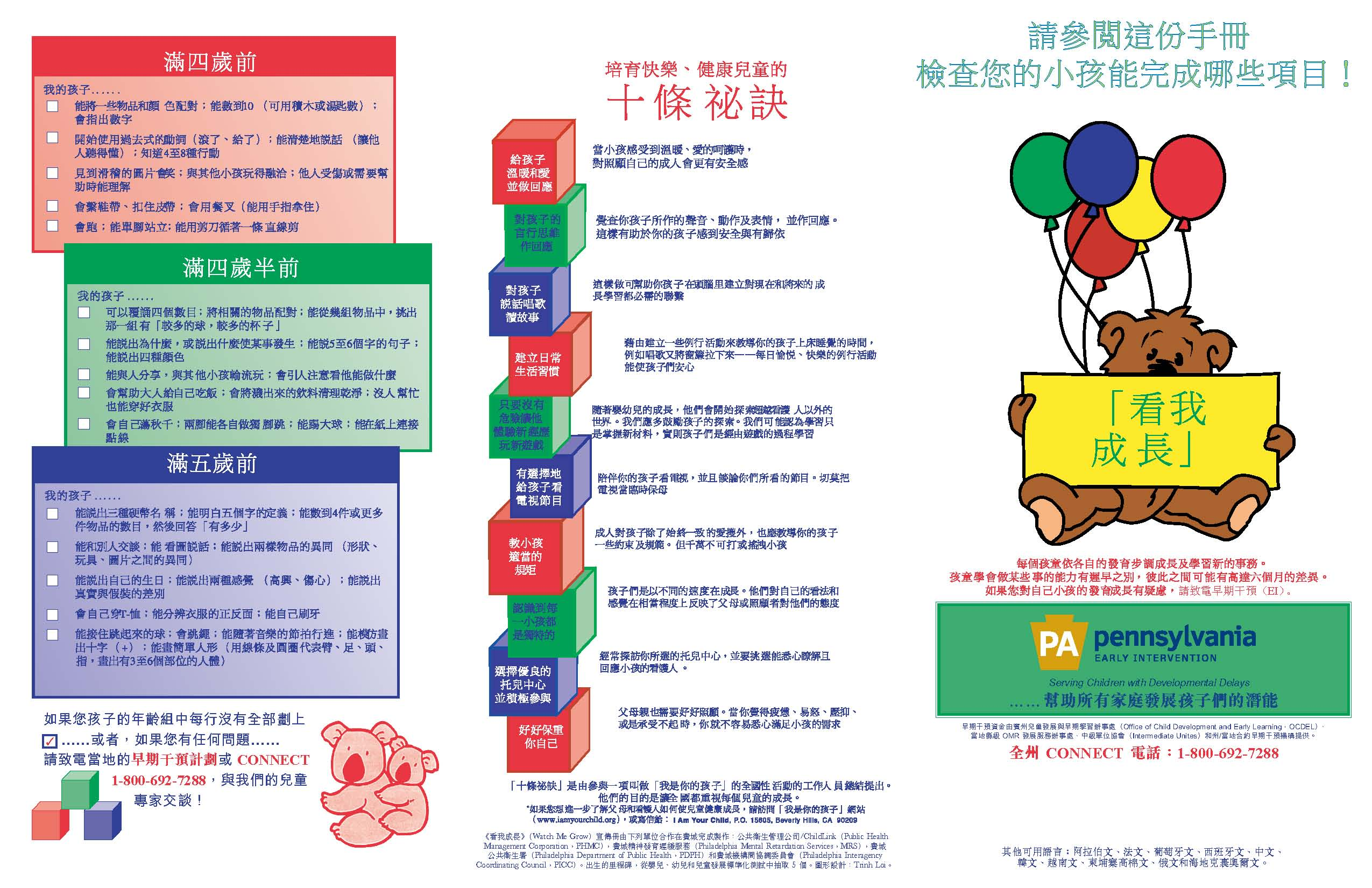 Watch Me Grow Brochure - Traditional Chinese