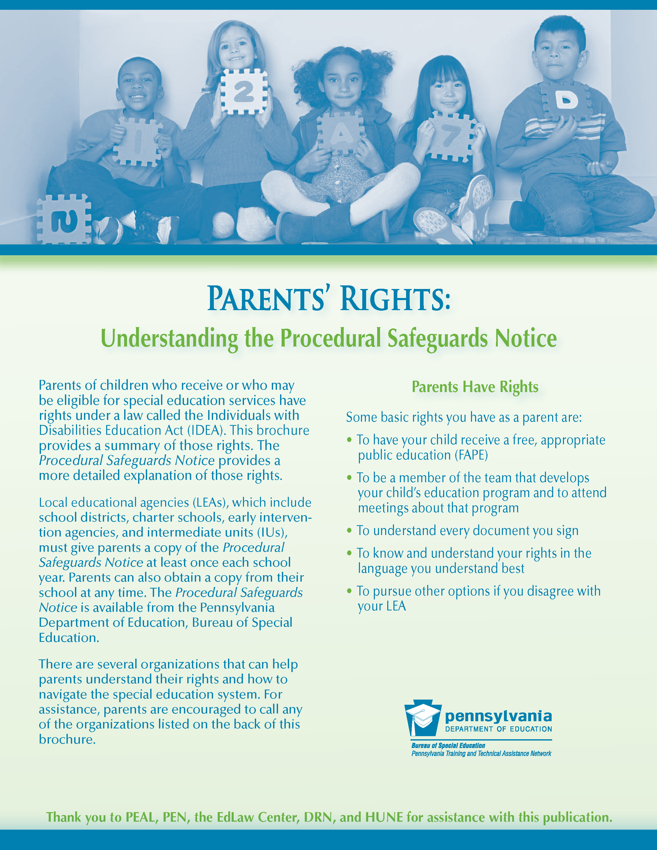 Procedural Safeguards Series Part Iv >> Pattan Parents Rights Understanding The Procedural Safeguards Notice