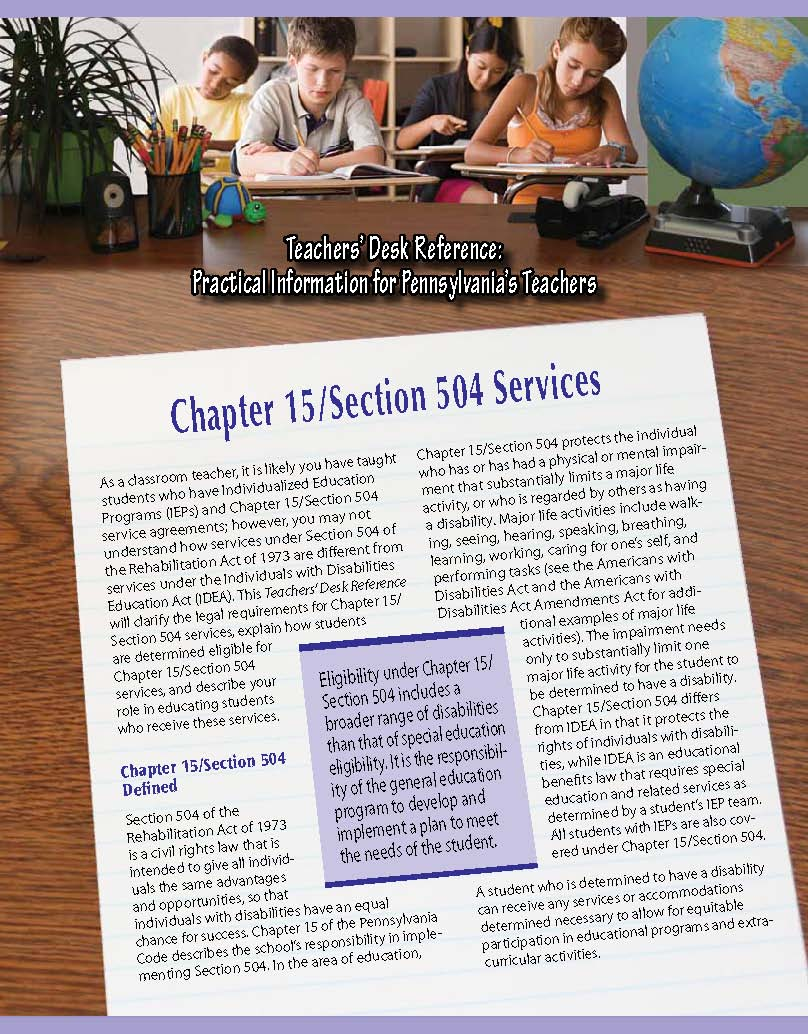 Teachers' Desk Reference: Chapter 15/Section 504 Services