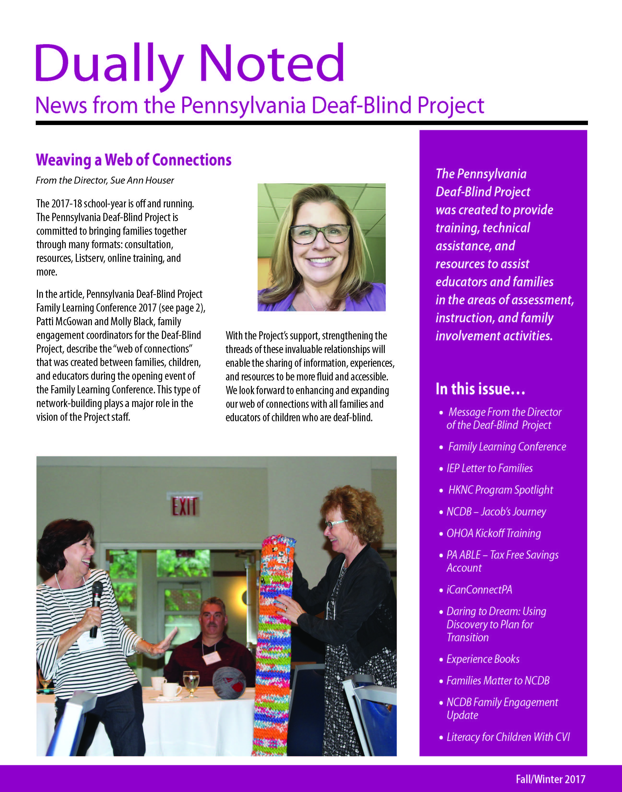 Dually Noted: News from the Deaf-Blind Project - Fall/Winter 2017