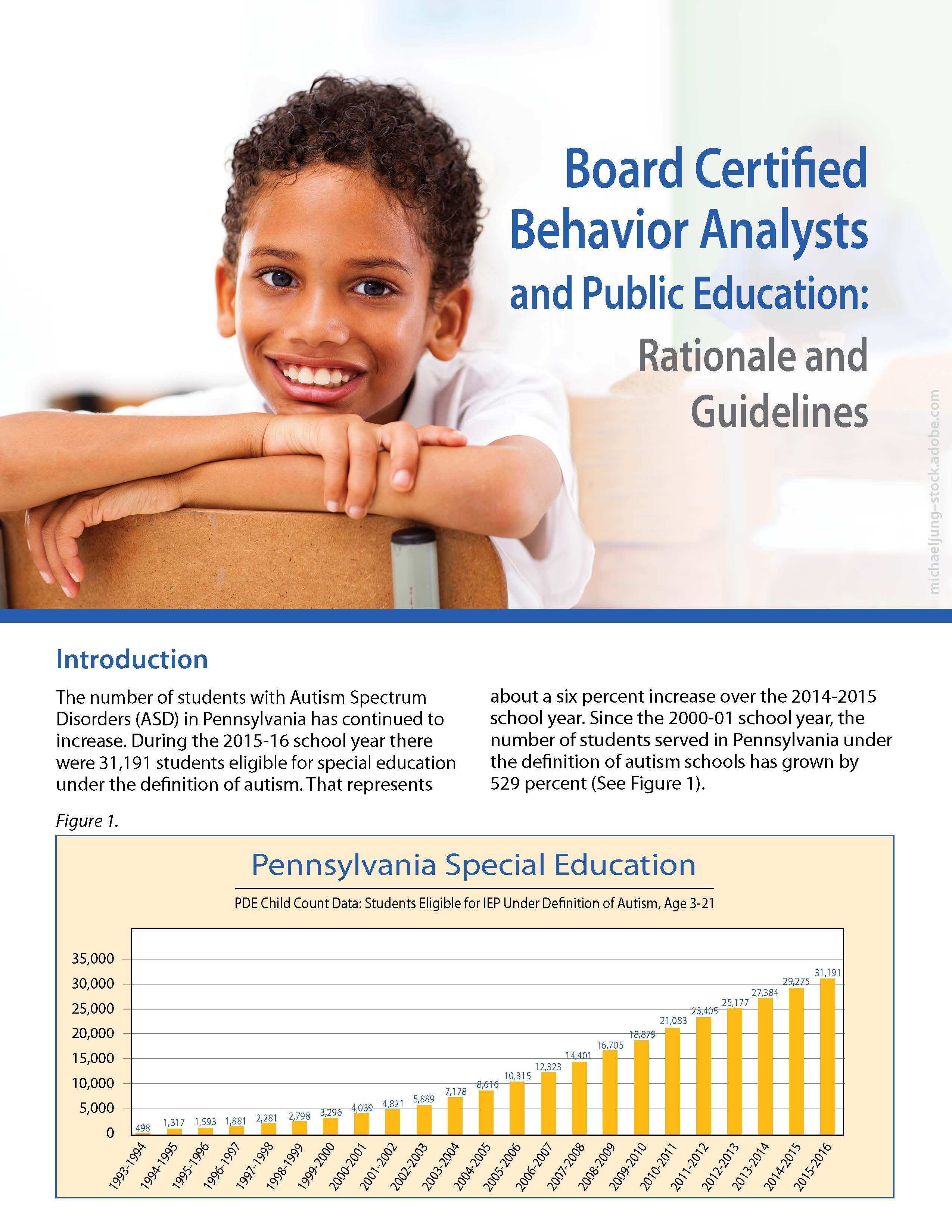 Board Certified Behavior Analysts and Public Education: Rationale and Guidelines