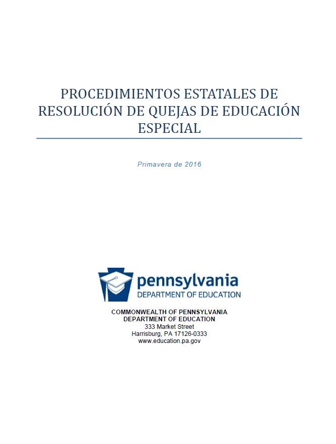 Special Education State Complaint Resolution Procedures